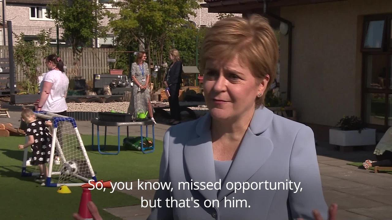 Nicola Sturgeon on Boris Johnson's 'odd' decision not to meet her during Scotland visit