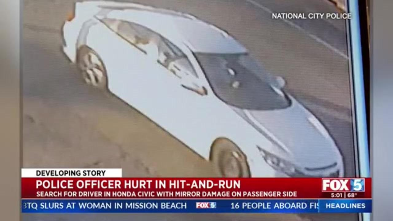 Police seek hit-and-run driver who injured California officer
