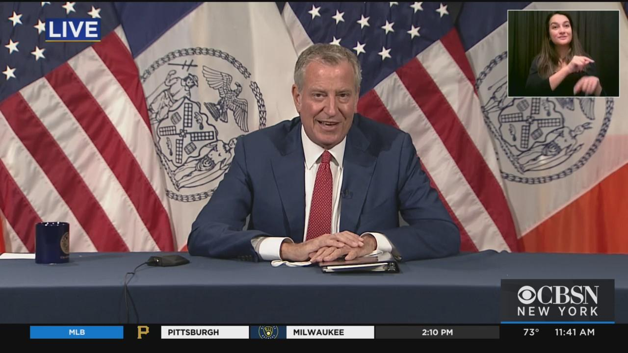 Mayor De Blasio's Latest Update On Cuomo Investigation And COVID Pandemic
