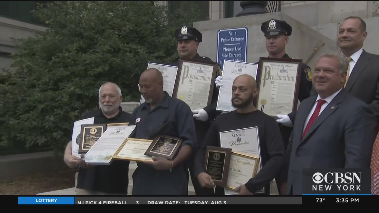 Heroes Who Lifted Car Off Baby Girl, Saved Mother In Yonkers Crash Honored