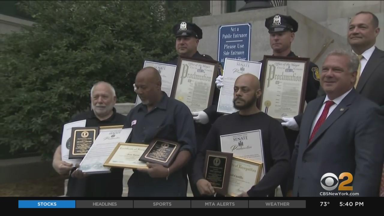 5 Heroes Honored For Lifting Car To Save Baby, Mother In Yonkers