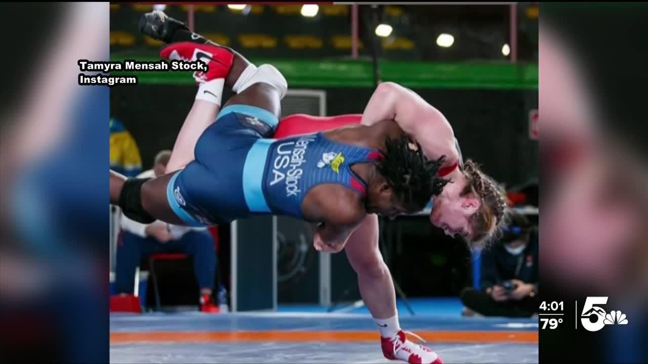 Womens Wrestling Gold Medal winner speaks with News 5