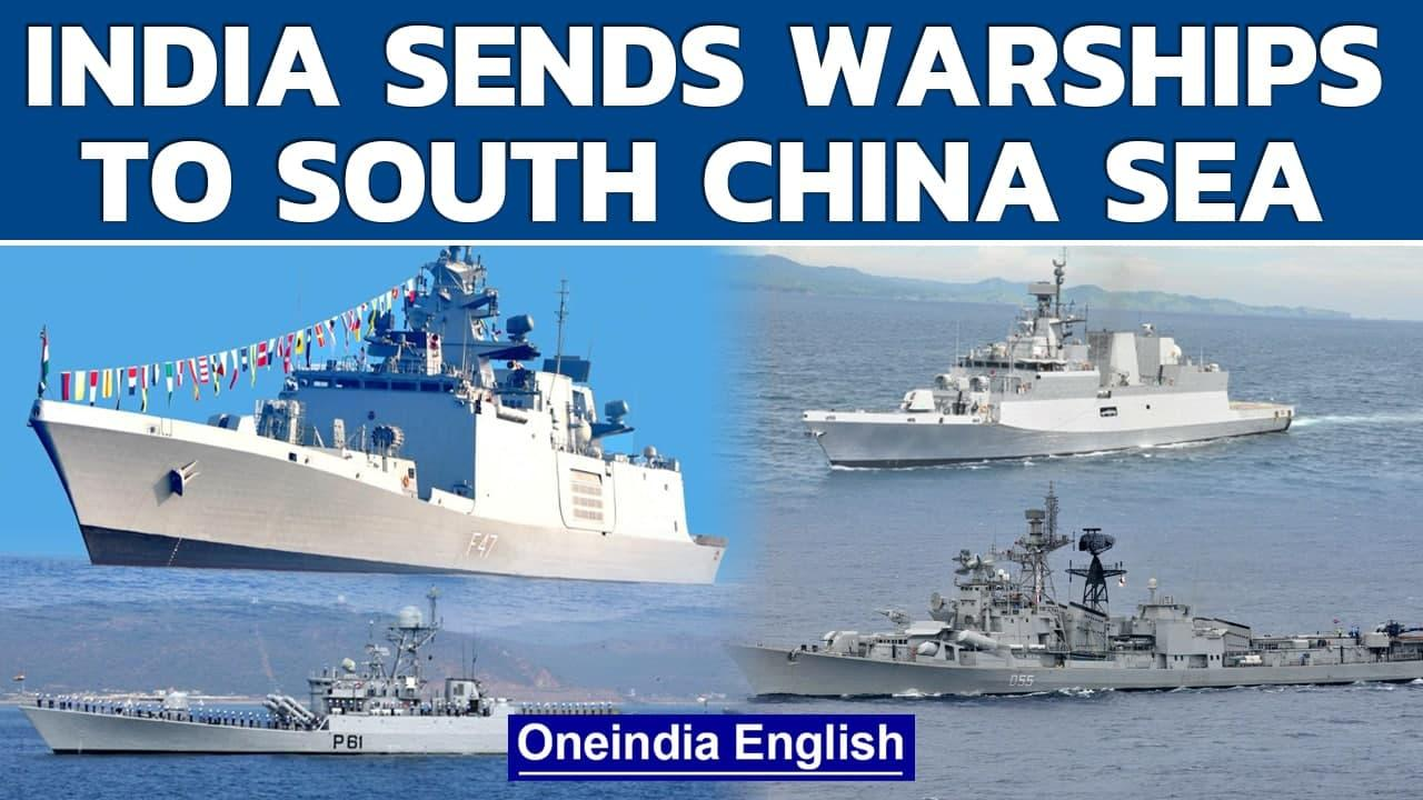 India's stern message to China, 4 warships head to South China Sea | Oneindia News