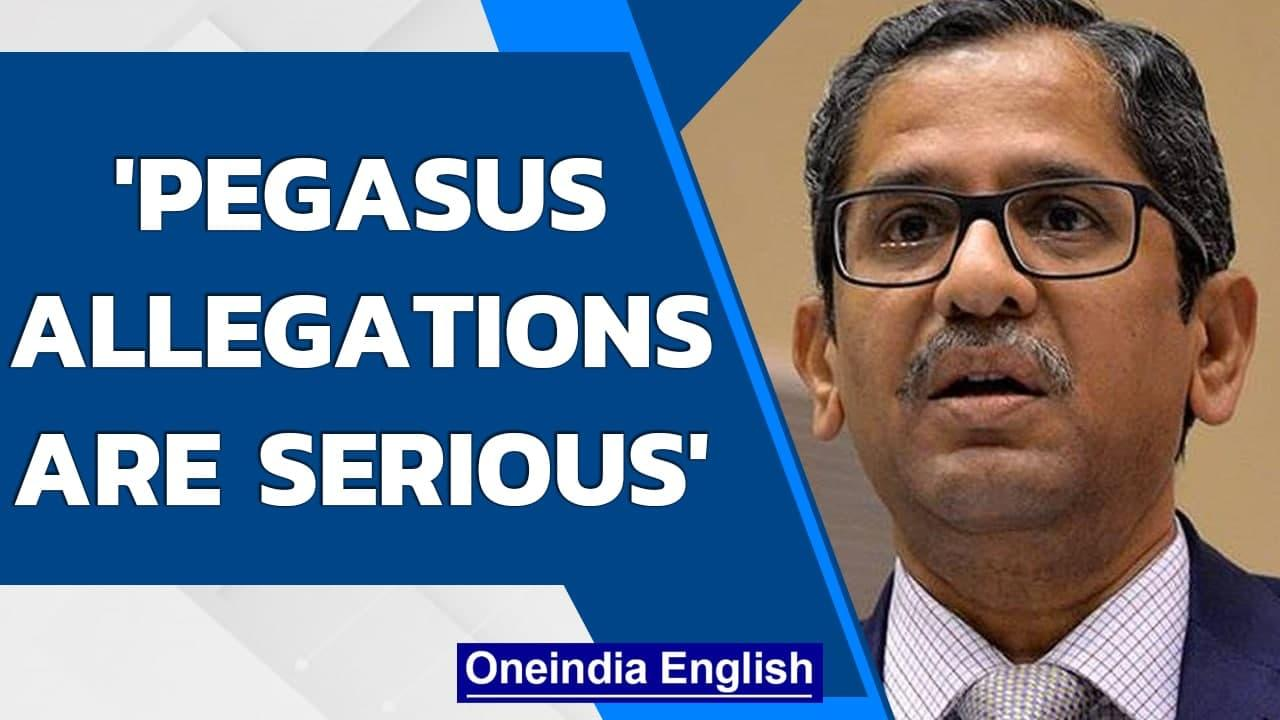 SC asks Pegasus spyware row petitioners to submit their petitions to the Centre | Oneindia News