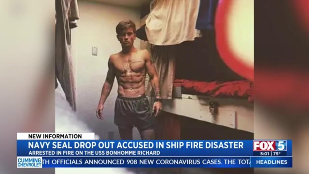 Sailor charged in USS Bonhomme Richard ship fire was Navy SEAL dropout