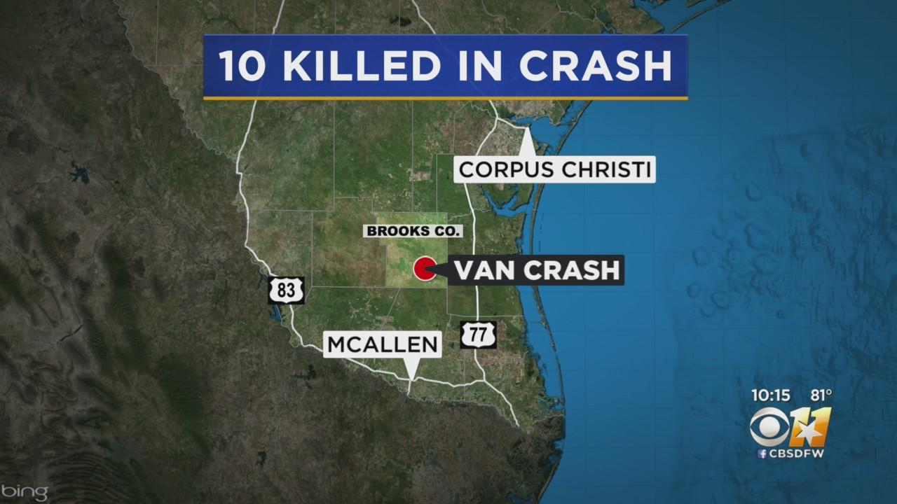 At Least 10 Dead, More Than A Dozen Injured After Overloaded Van Carrying Migrants Crashes In South Texas