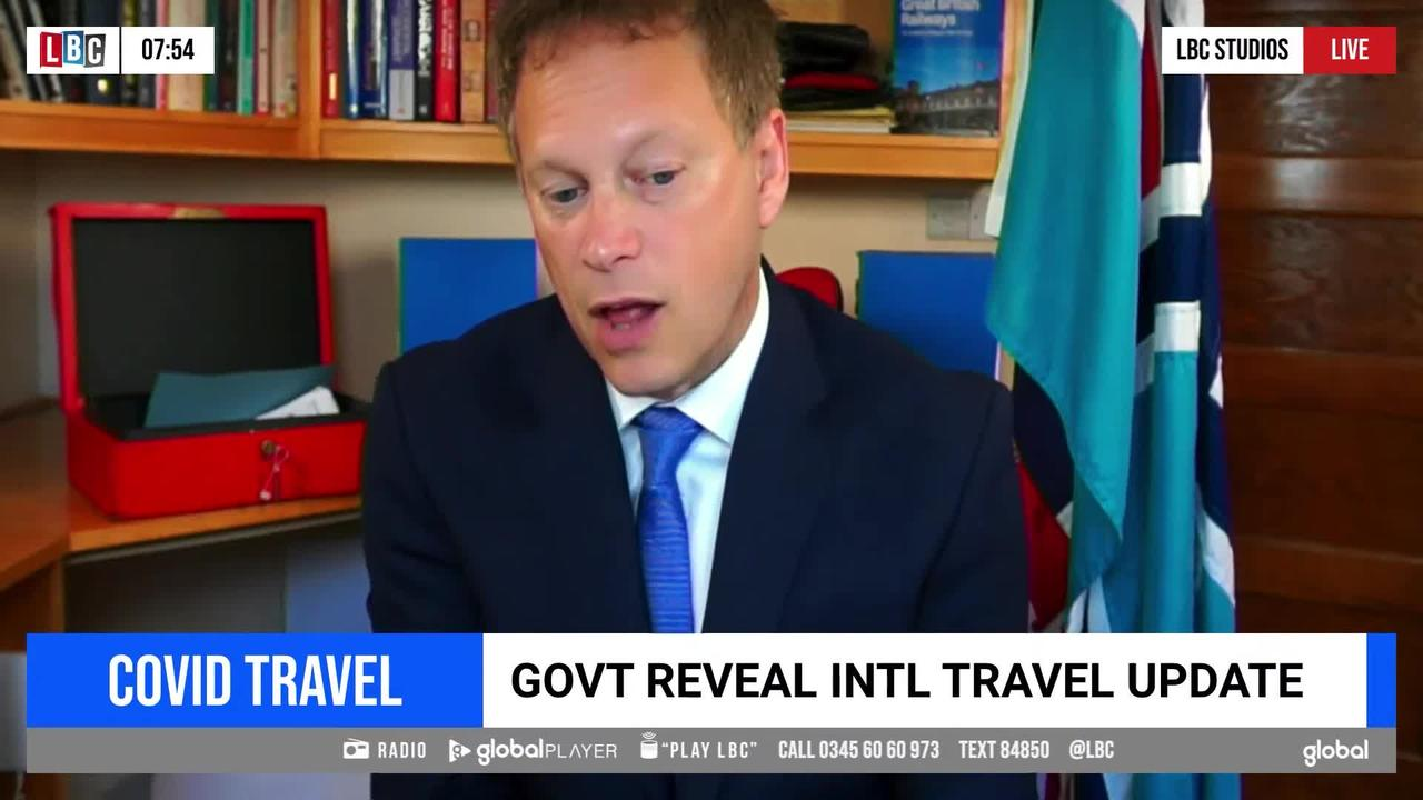 Shapps defends the Government's traffic light system after latest update to travel rules.