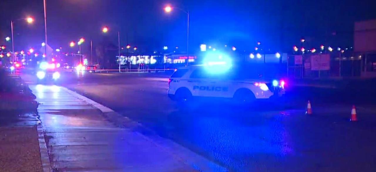 Pedestrian hit by patrol car in North Las Vegas