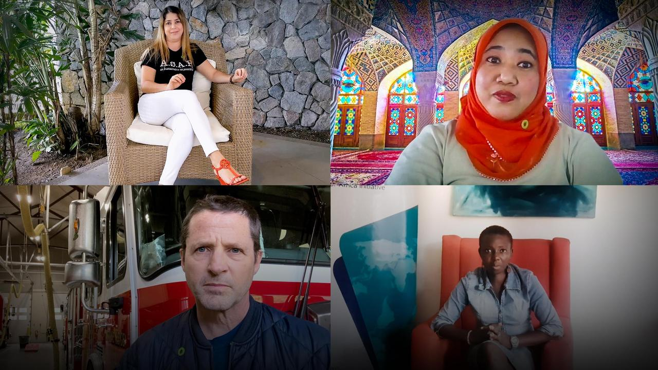 Climate change is our reality. Here's how we're taking action   Al Gore, Gloria Kasang Bulus, Nana Firman, Ximena Loría and Tim