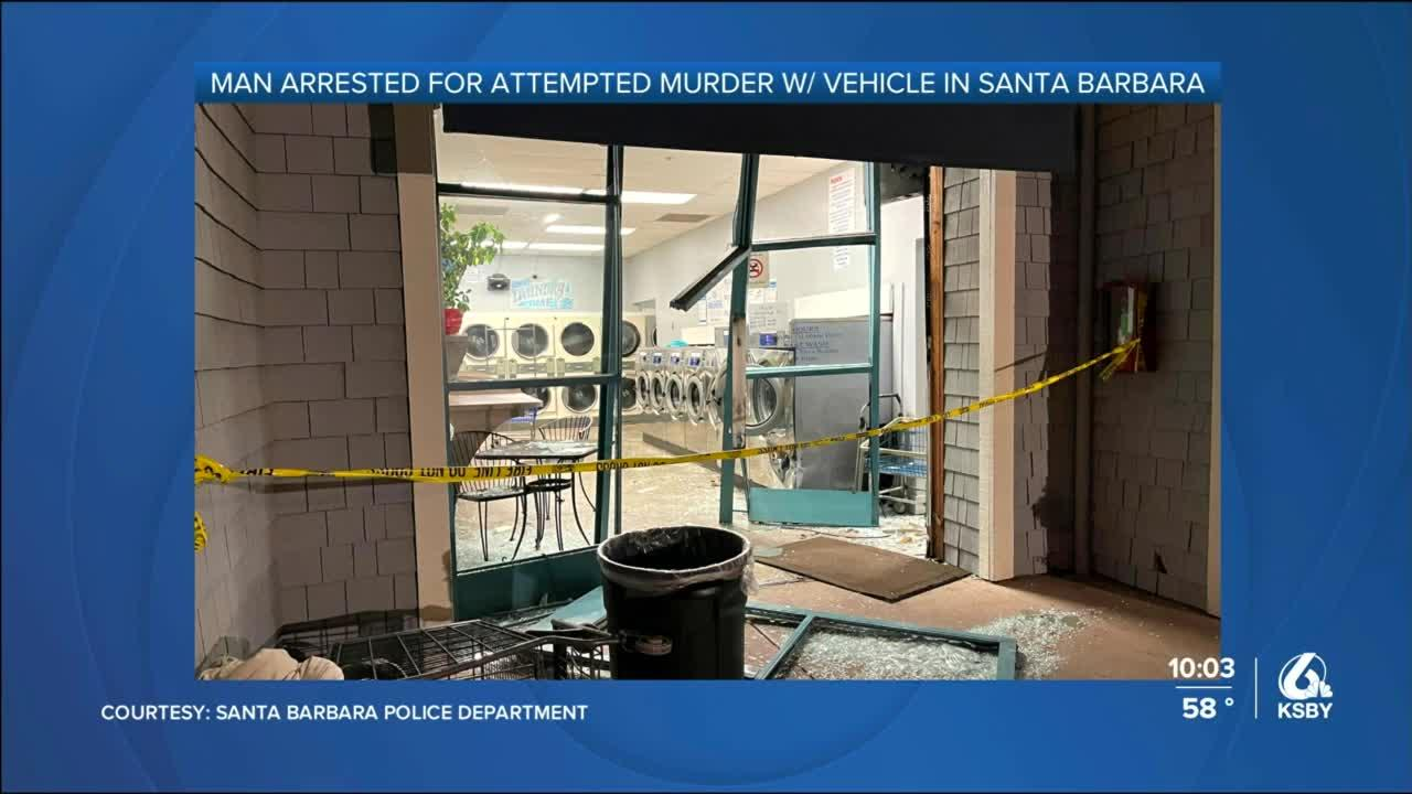 Man arrested for hitting person with a truck outside a Santa Barbara laundromat, police say