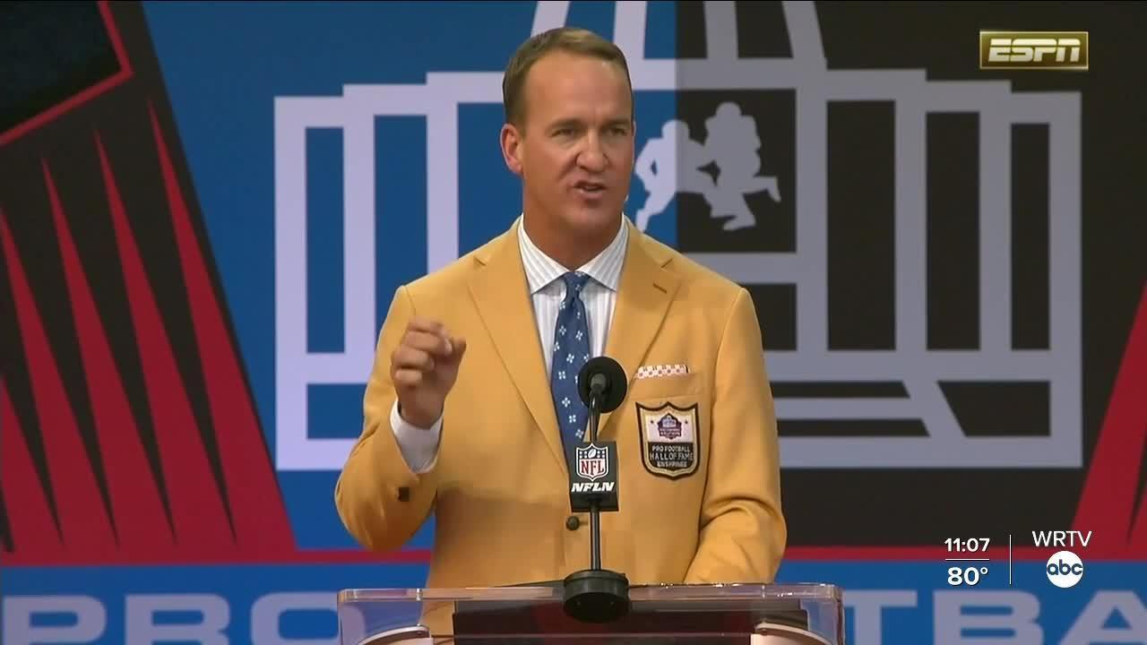 Peyton Manning enshrined in Pro Football Hall of Fame