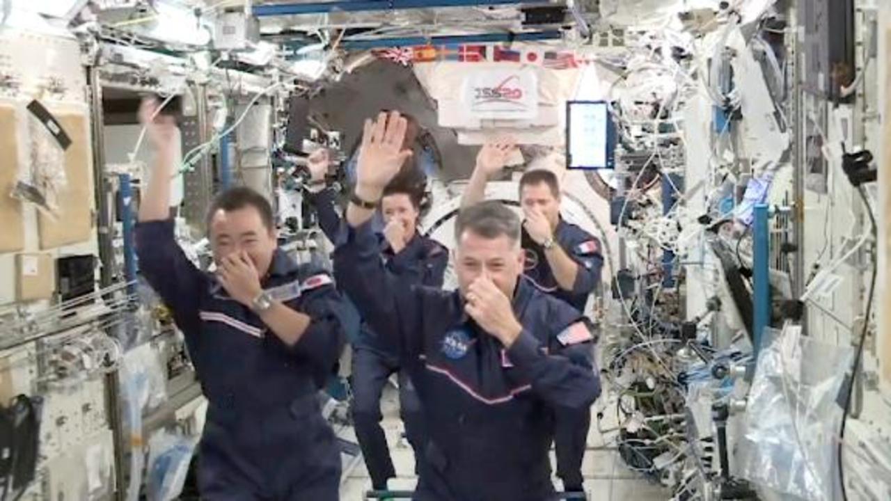 Zero-G gymnastics? Watch astronauts spoof the Olympics