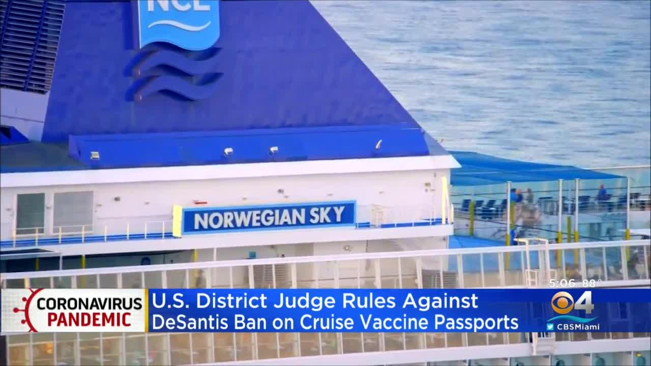 Gov. DeSantis To Appeal Preliminary Injunction Allowing Norwegian Cruises To Require Vaccines