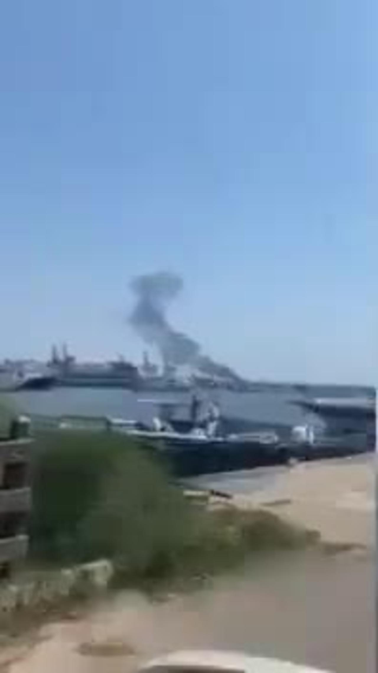 Explosion reported on Iran oil tanker at Syrian port, fire put out