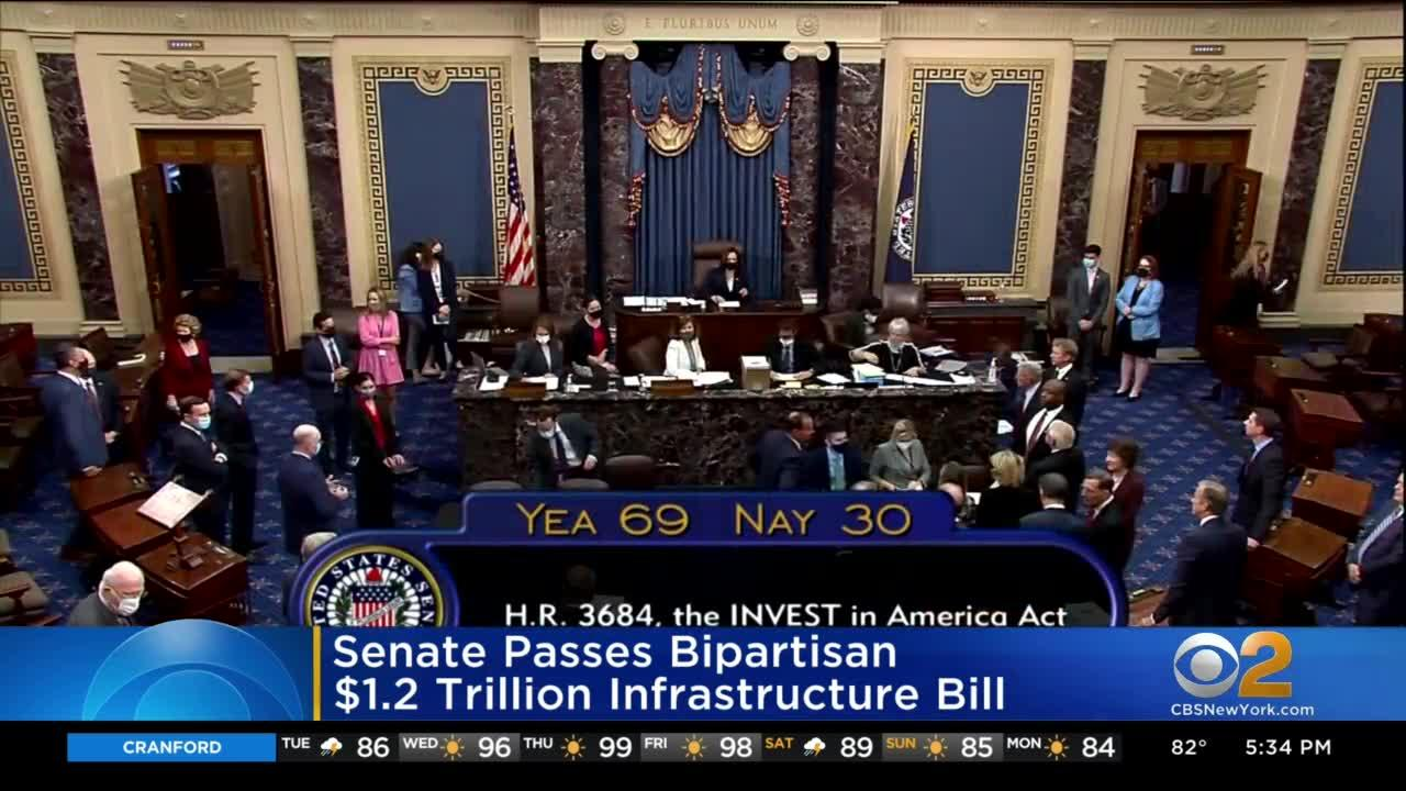 Senate Passes Bipartisan $1.2 Trillion Infrastructure Bill
