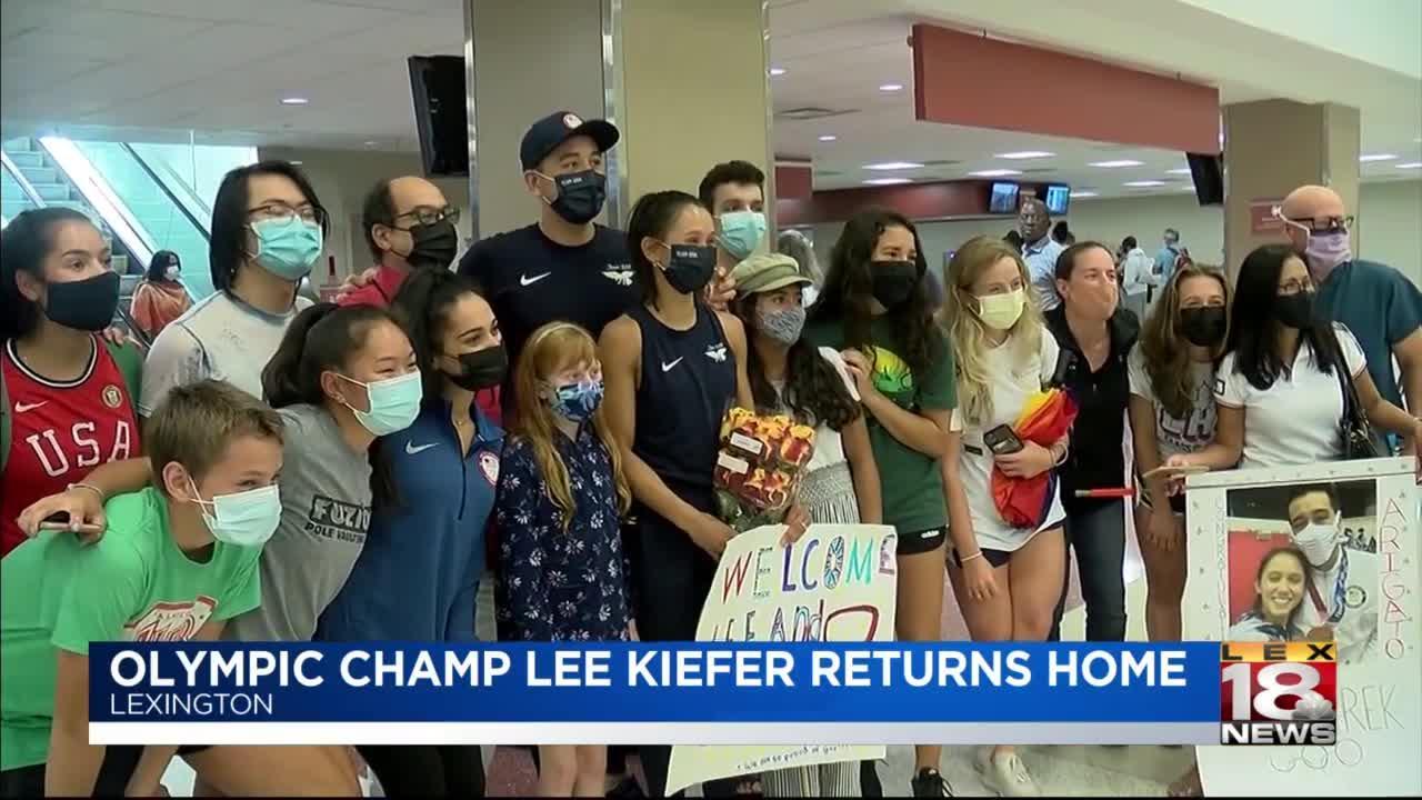 Olympic champ Lee Kiefer returns home