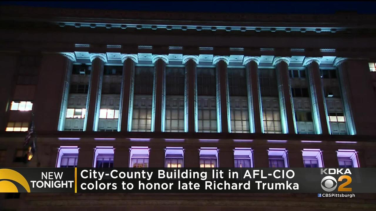City-County Building Lights Honor Richard Trumka