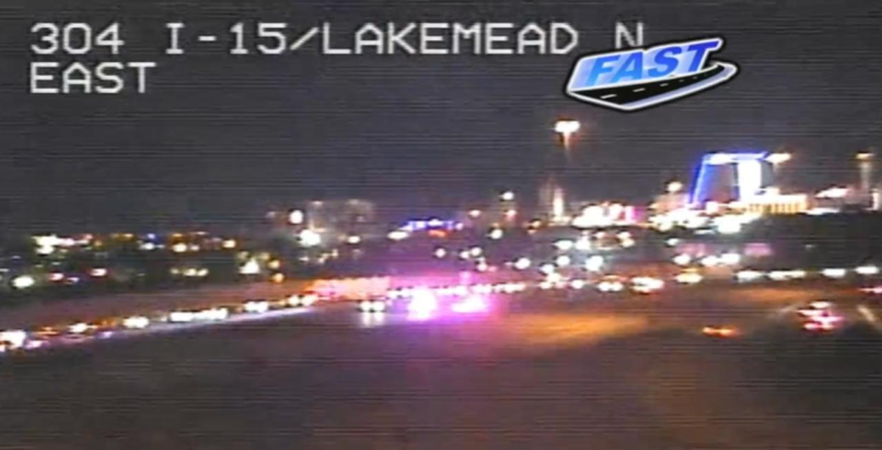 Police activity closes I-15 at Lake Mead Boulevard, NHP says