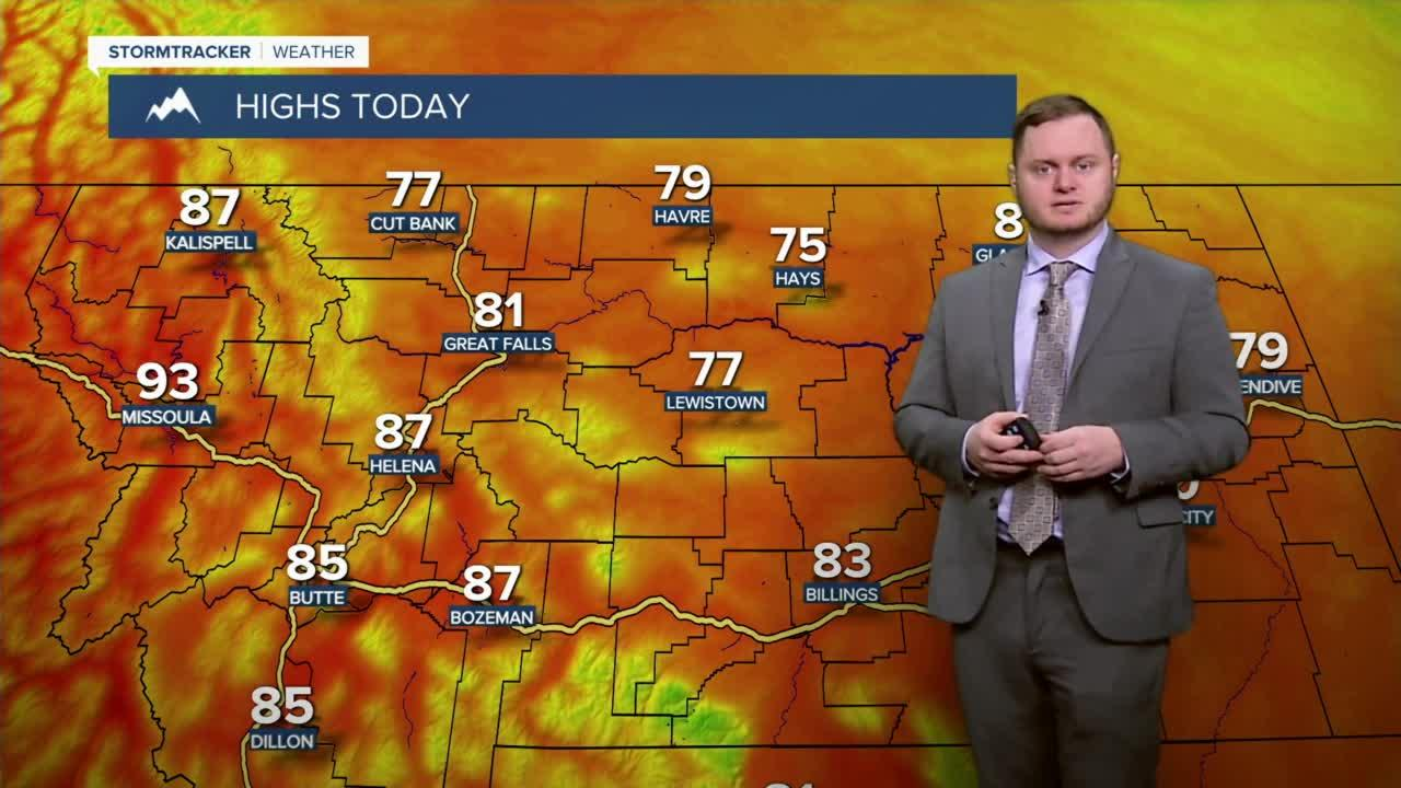 Cooler today on either side of 80 degrees before a possible heat wave this weekend.