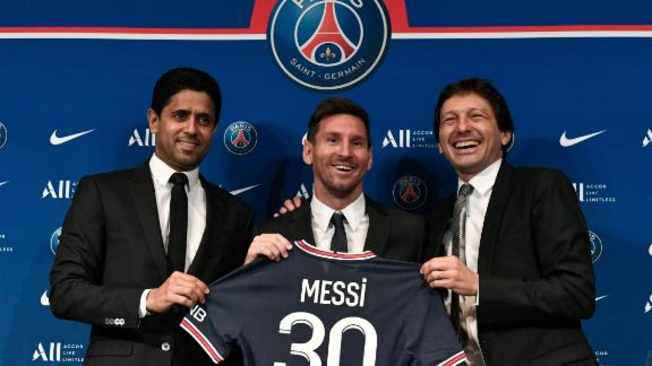 'Very happy, very proud' to have Messi, says PSG president