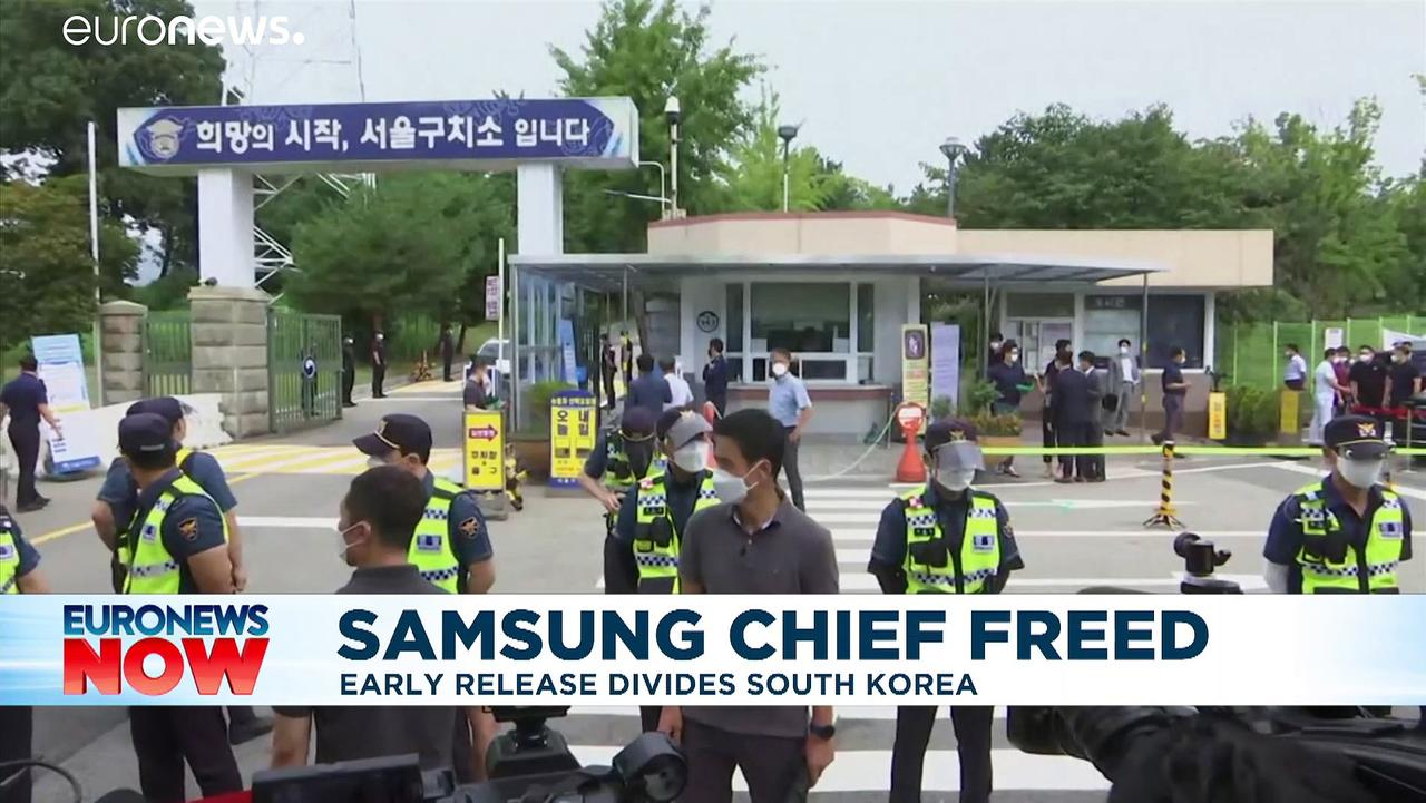 Samsung leader Lee Jae-yong released from prison on parole a year early