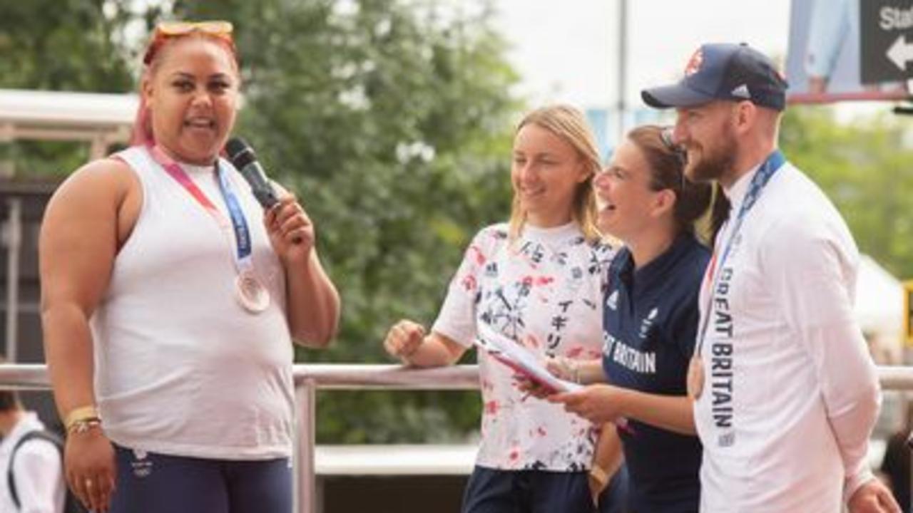 Team GB celebrate success at homecoming