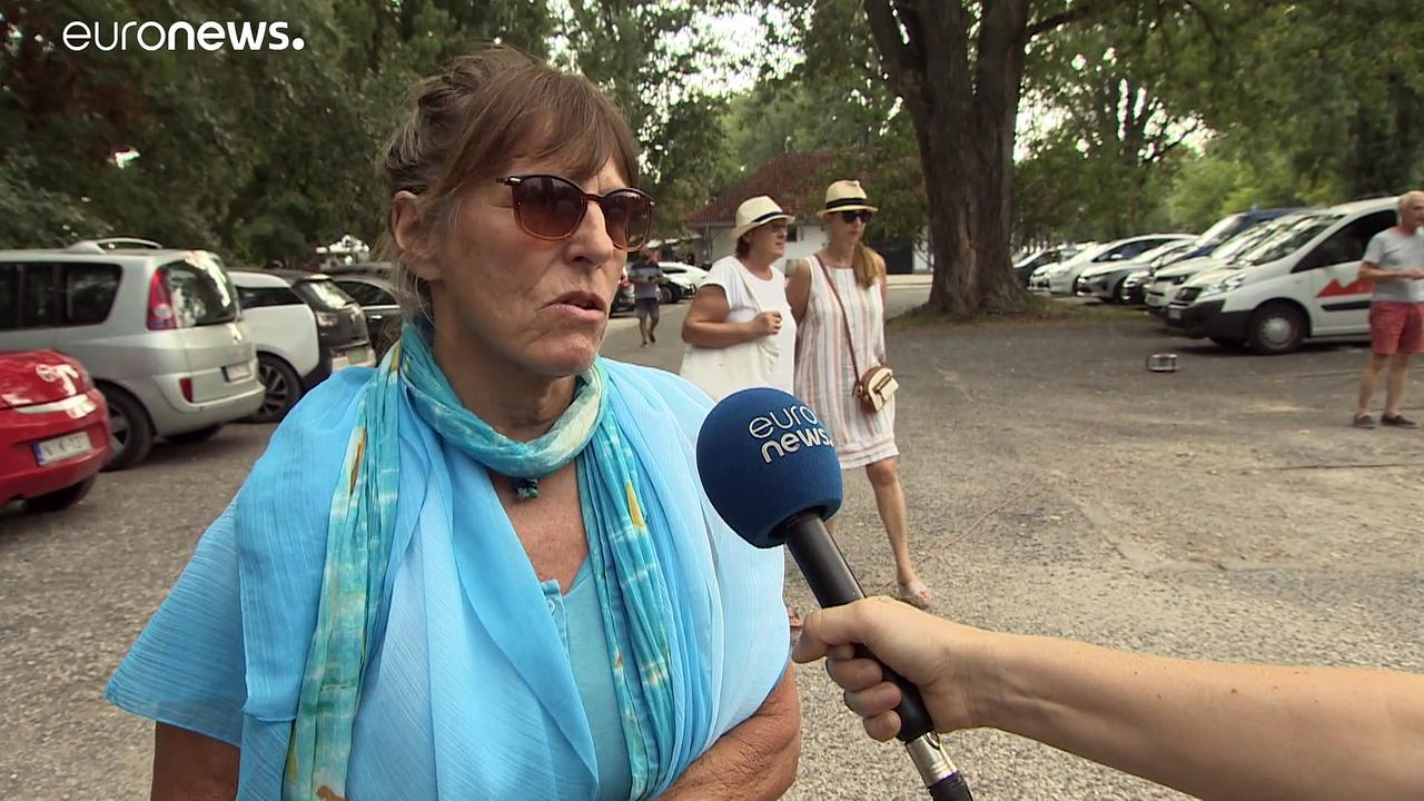 Locals protest against construction around Lake Balaton in Hungary