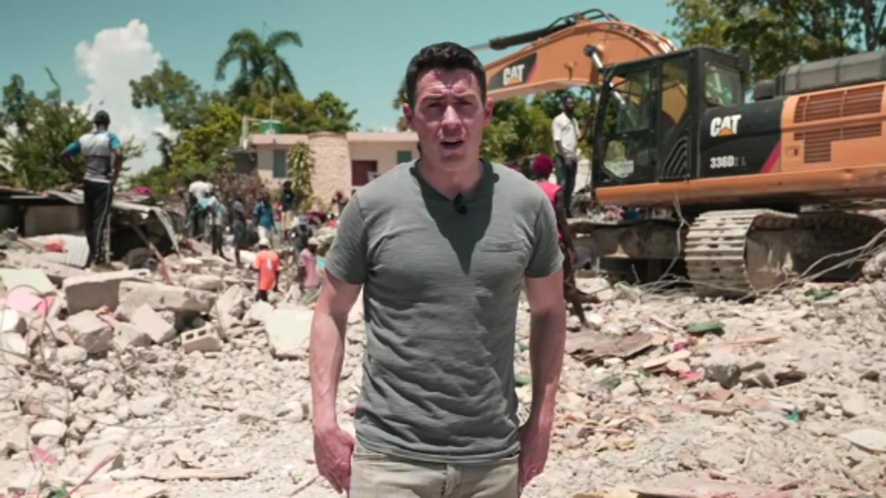 CNN visits devastating scene after earthquake killed more than 1,200