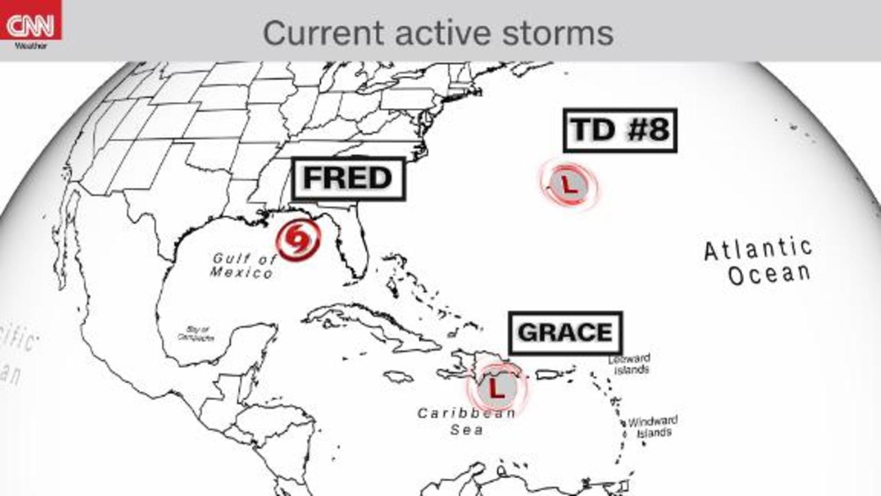 Tropical Depression Eight forms near Bermuda