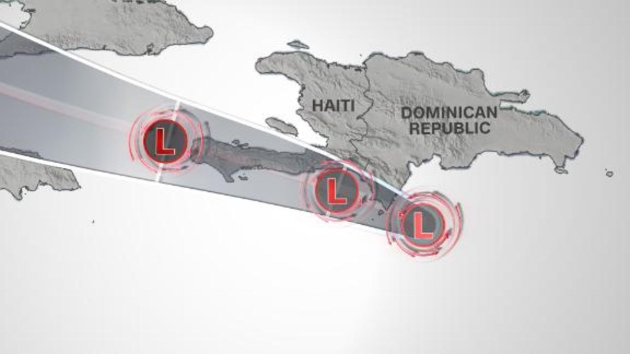 Tropical Depression Grace set to track over Haiti on Monday
