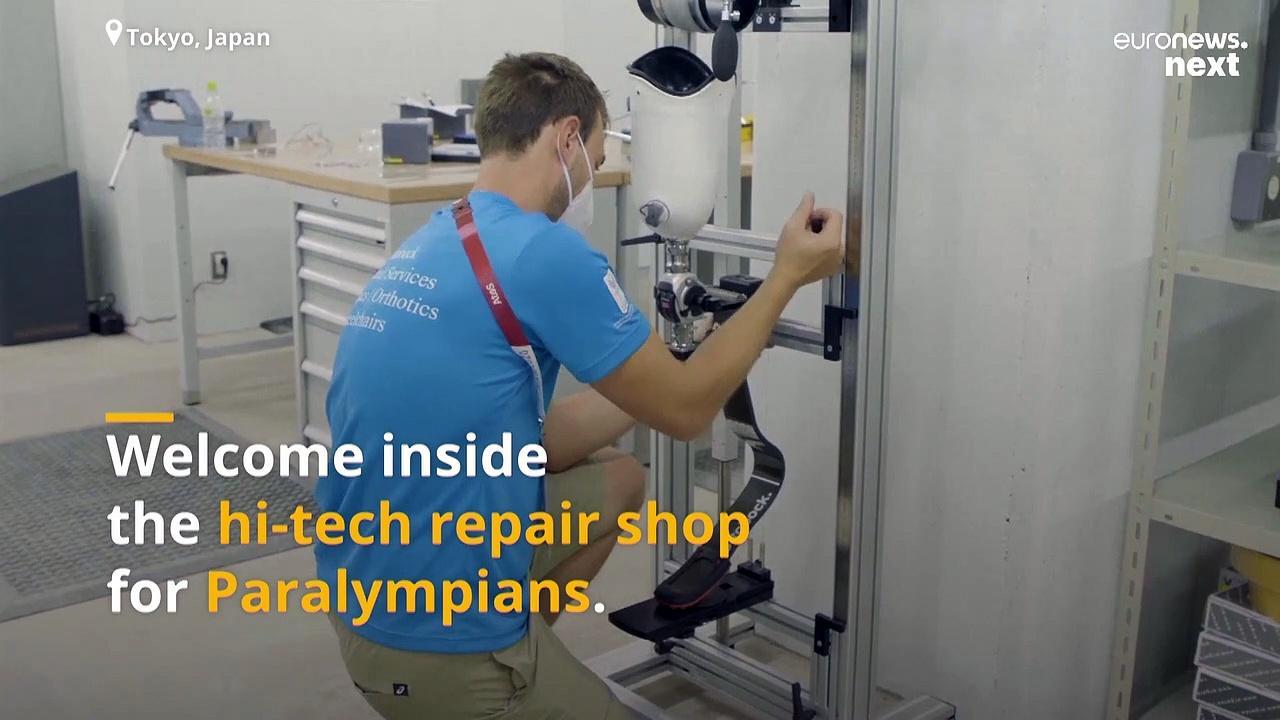 A hi-tech repair shop for Paralympians has just opened its doors in Tokyo