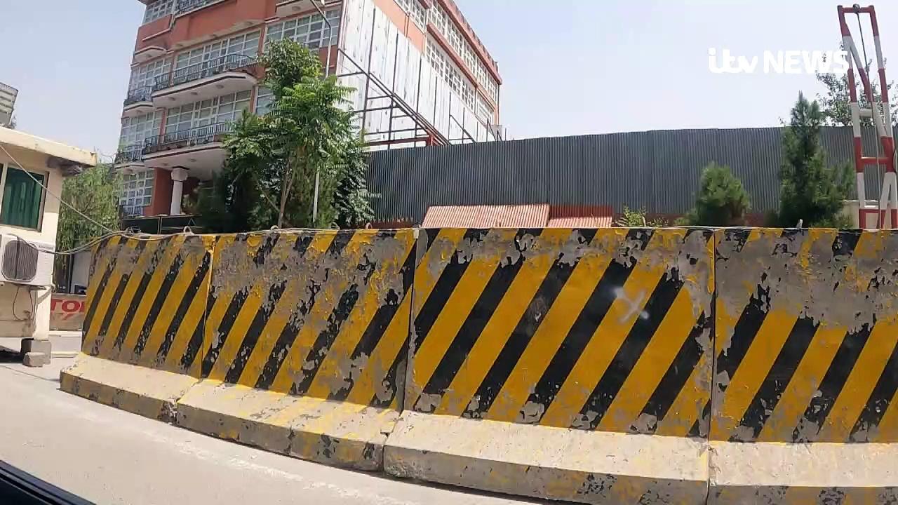 ITV News show deserted Kabul green zone streets