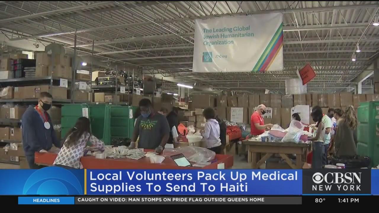 Yonkers Volunteers Pack Medical Supplies For Haiti