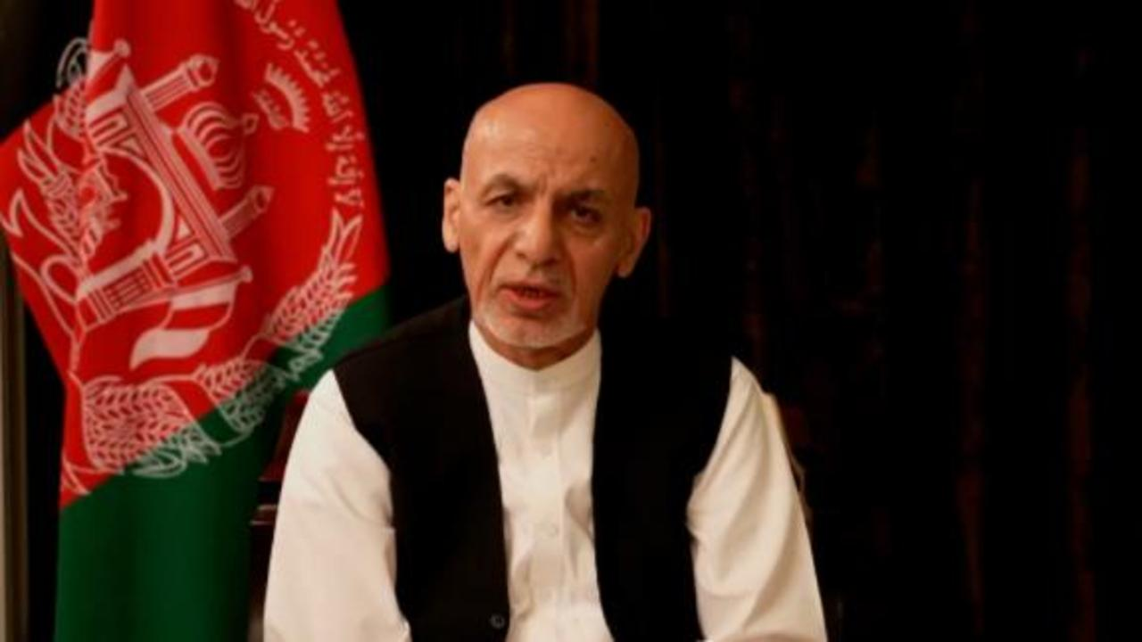Deposed Afghan president speaks out for first time in video message after fleeing country