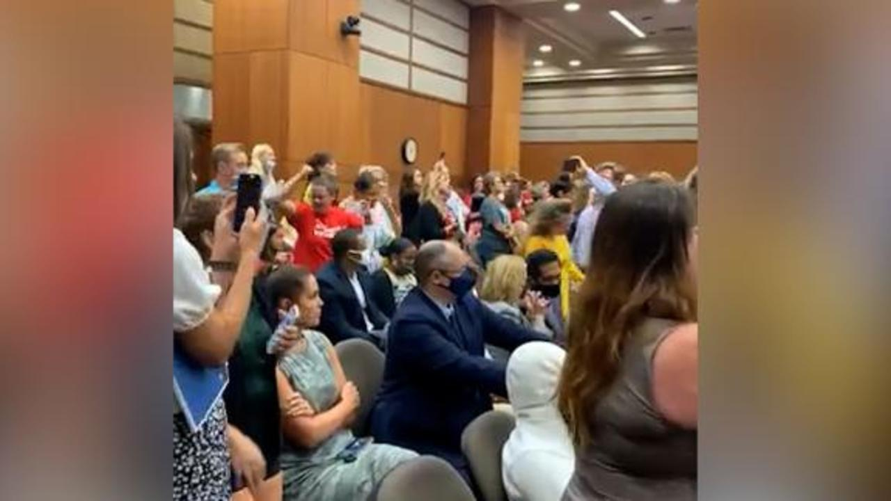 'It's about control': Anti-mask protesters upend school board meeting