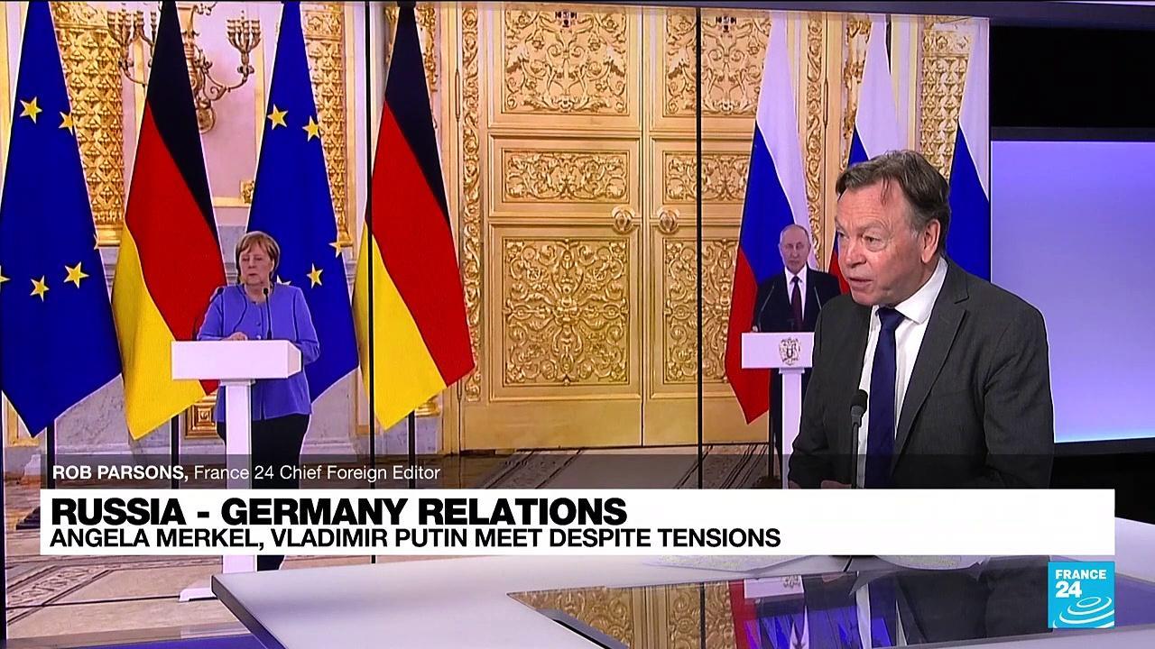 Russia - Germany relations: Merkel, Putin meet despite tensions