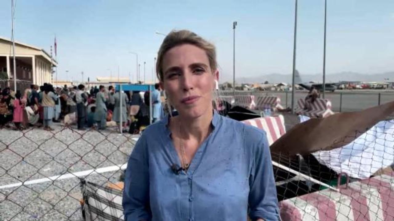 Clarissa Ward at Kabul airport: It's very hard being an American here