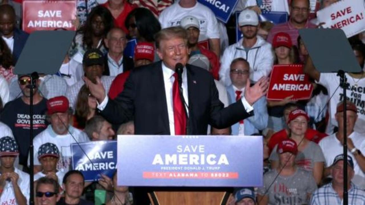 Trump booed after encouraging Covid-19 vaccines at Alabama rally