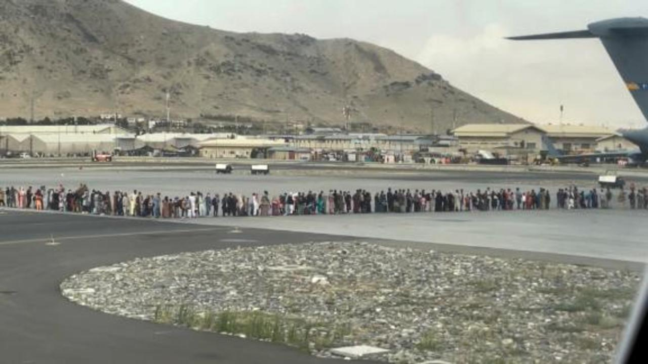 See latest scene at Kabul airport as evacuations continue