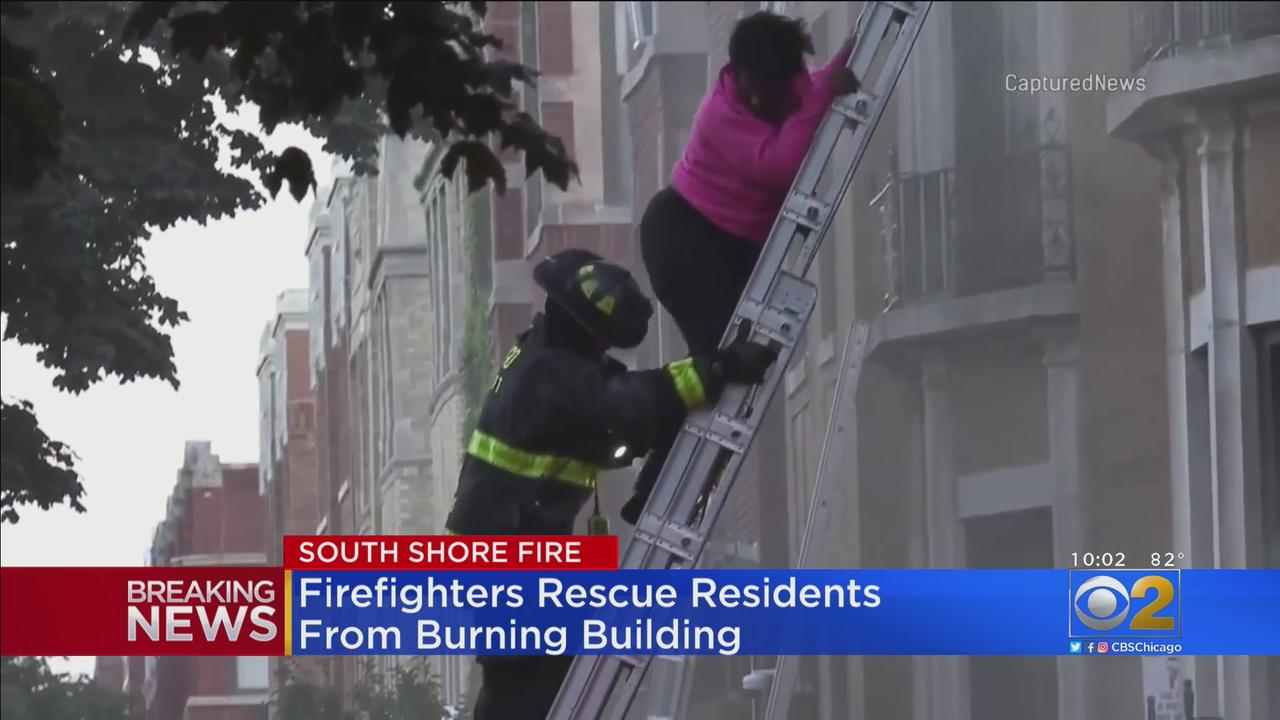 Firefighters Rescue Residents From Burning Building In South Shore