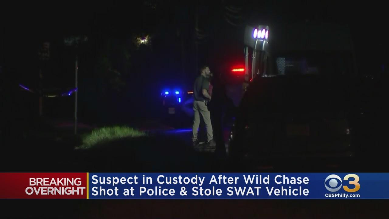 Suspect In Custody After Wild Chase, Shooting At Police