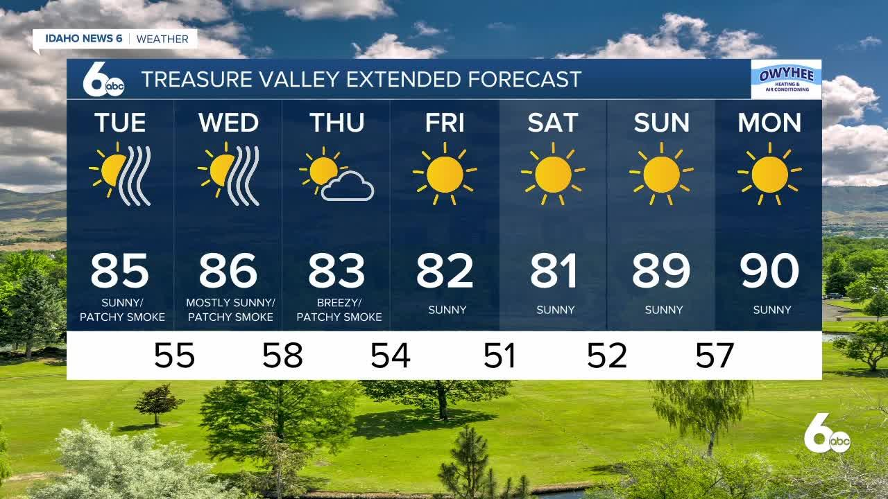 Rachel Garceau's Idaho News 6 forecast 8/24/21