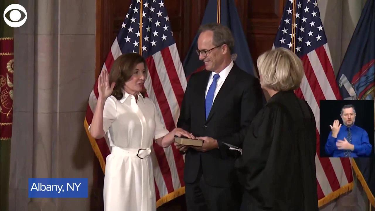 WEB EXTRA: NY Governor Kathy Hochul's Ceremonial Swearing-in Ceremony
