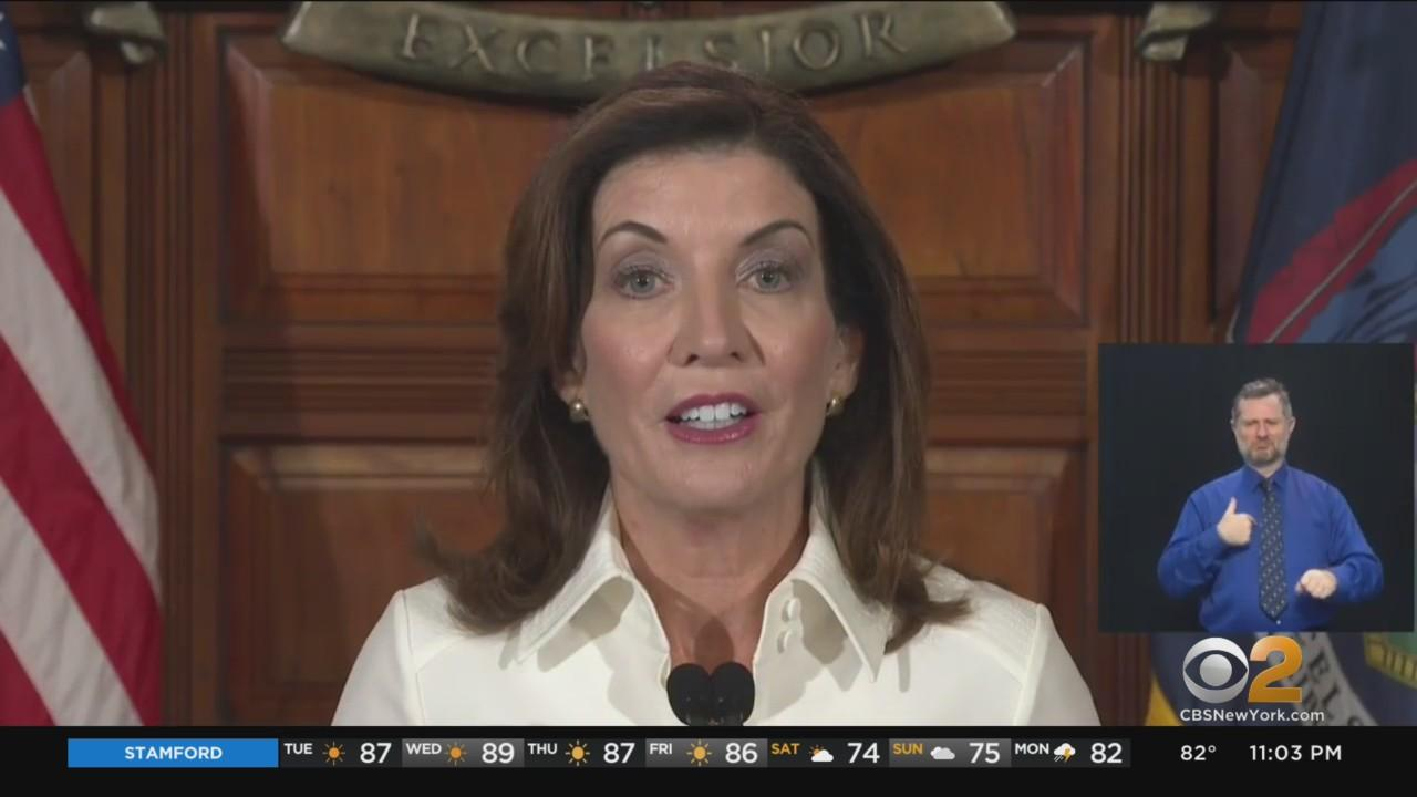 Gov. Kathy Hochul Makes History, Quickly Gets To Work On First Day