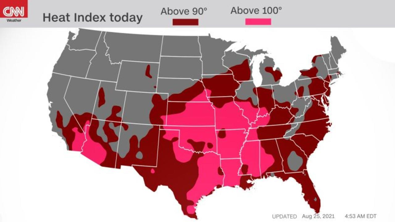 Dangerous heat impacting over 72 million