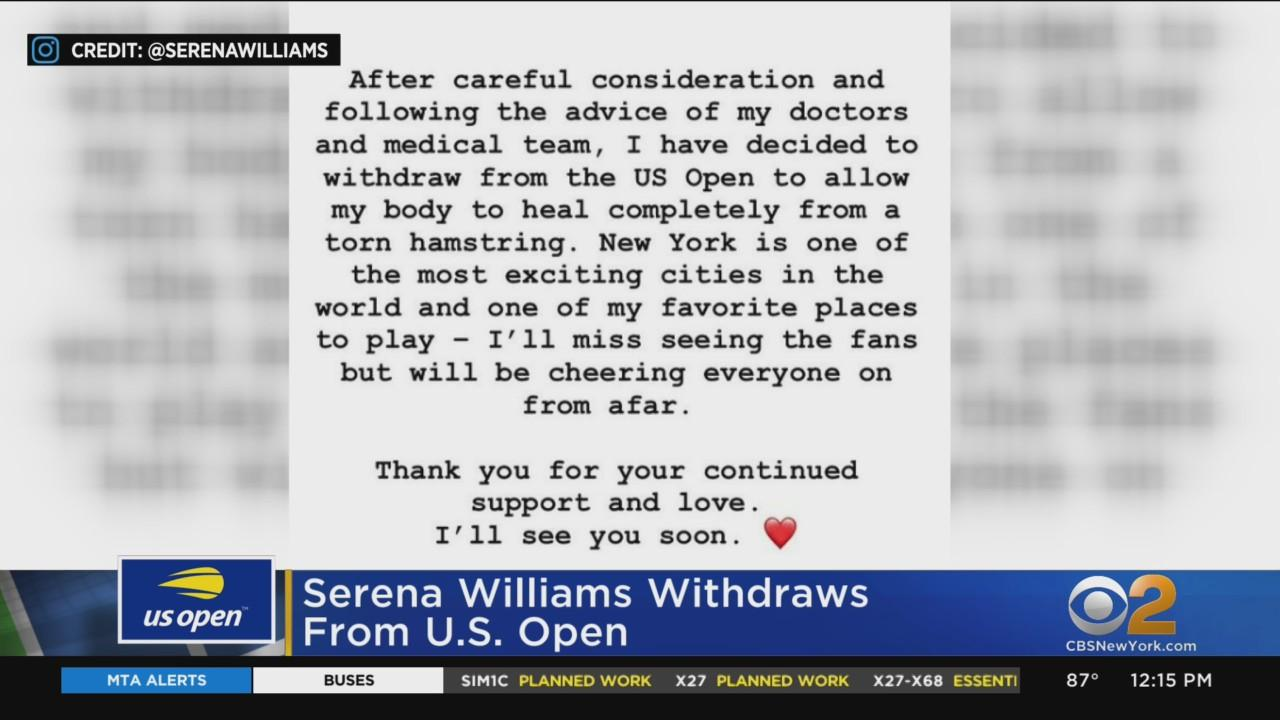 Serena Williams Out Of US Open
