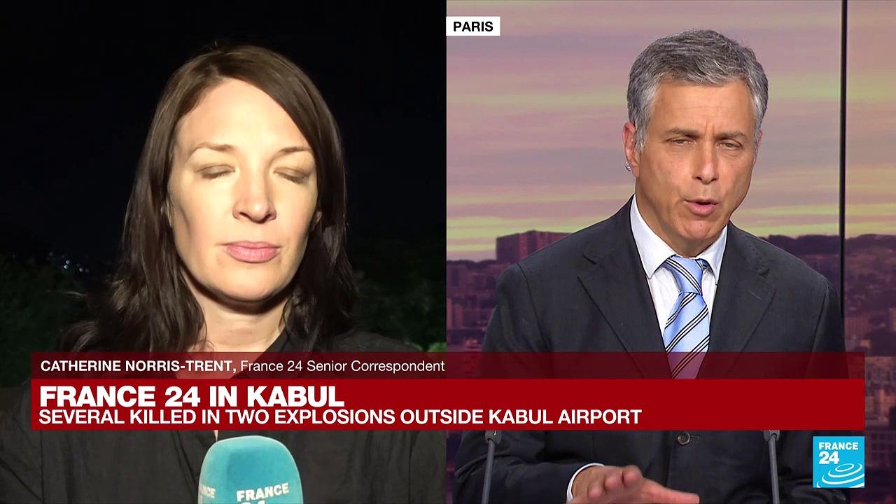'We heard gun fire in the wake of the explosion' Catherine Norris-Trent reports from Kabul