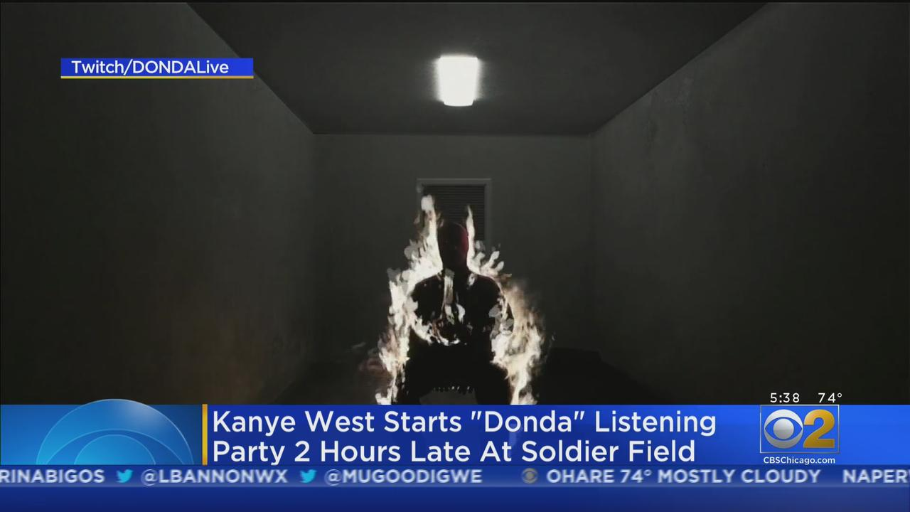 Kanye West Starts 'Donda' Listening Party 2 Hours Late At Soldier Field