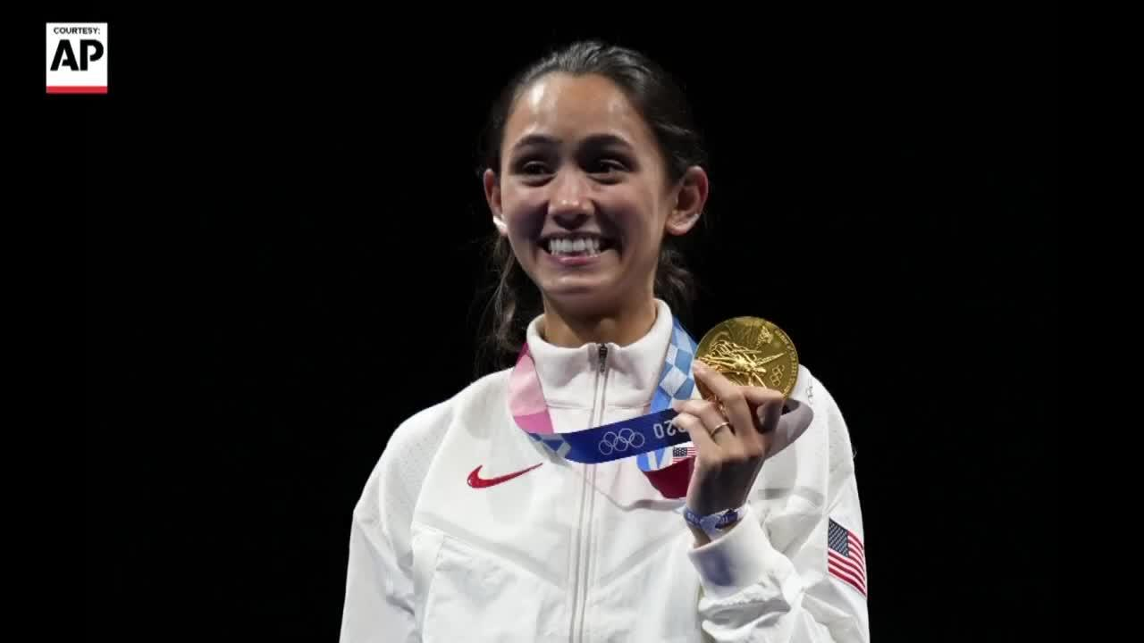 Lee Kiefer talks taking home the gold in Tokyo Olympics
