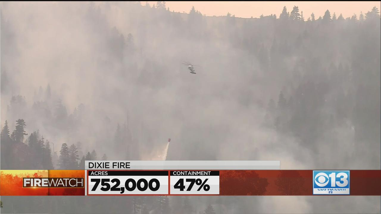 Dixie Fire Update: 752,000 Acres, 47% Contained